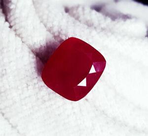 8.07 Ct Loose Gemstone Natural Red Ruby Certified Madagascar Cushion Shape eBay