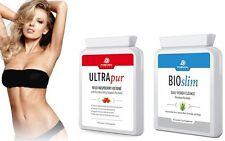 Ultrapur Wild Raspberry Ketone 60 Caps & Bioslim Daily Power Cleanse 60 Caps