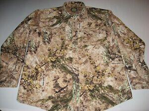 Cabela's Men's Long Sleeve Button Down Western Zonz Camo Shirt Large Tall