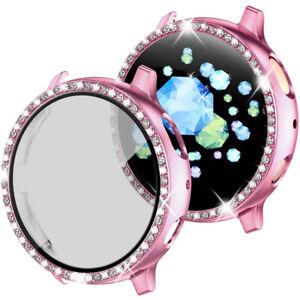 Fr Samsung Galaxy Watch Active 2 40/44mm Diamond Bling Glitter Case Screen Cover