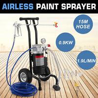 900W Airless Spruzzatore di vernice Paint sprayer + Tubo flessibile 1.9L/MIN