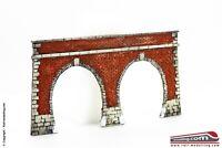 RAIL-MOD 00216 - H0 1:87 - Portale galleria ferroviaria in mattoni rossi doppio