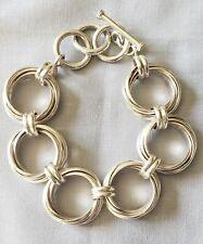 SILPADA Sterling Silver 925 Multi Circle Link Toggle Bracelet B1235 Adjustable