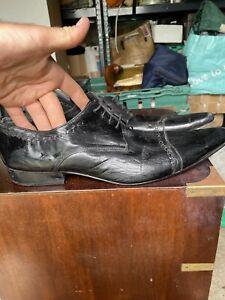 Gucinari Black Mens Uk 11 Black Leather Shoes