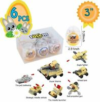Totem World 6 Filled Easter Eggs Building Toys - Army Vehicle Set - Age 6-12...
