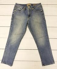 Nine West Vintage America Collection Womens Cropped Jeans Embroidered Size 4/27