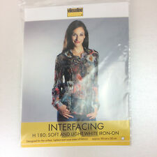 Vlieseline H 180 soft and light white iron on interfacing