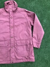 Vintage WOOLRICH PINK PARKA Womens Sz M Wool Lined Jacket Made In USA Snow Ski