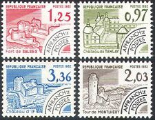 France 1982 Buildings/Fort/Tower/Chateaux/Architecture/Pre-cancels 4v set n33082