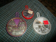 Water Gremlin & Kmart Lead Fishing Sinkers Mixed Lot Of 3 Partially Full