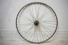 "1970s WEINMANN RIM/ MILREMO GEAR/ FIXED VINTAGE BICYCLE REAR 27 X 1 1/4"" WHEEL"