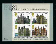 Great Britain - 1980 4v. Mini Sheet International Stamp Exhibition Architecture