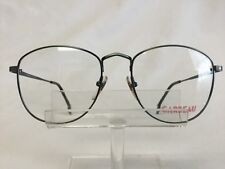 Vintage Carbeau 7028 Eyeglasses Antique Green Metal Large Round 54-18