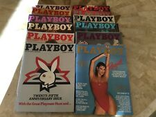 Playboy Magazine Full Year Set 1979 All 12 Issues. Complete Collection. Nude Lot