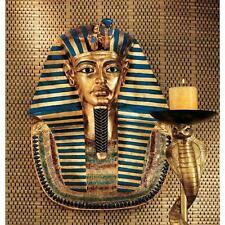Ancient Egyptian King Tut Golden Mask Tutankhamen Wall Sculpture
