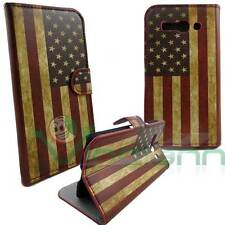 Custodia bandiera USA VINTAGE per Alcatel One Touch Pop C9 cover book stand