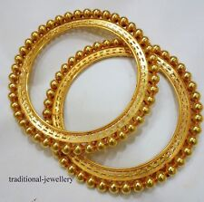 22K VINTAGE ANTIQUE TRIBAL OLD 22CT GOLD BRACELET BANGLE PATHA RAJASTHAN INDIA