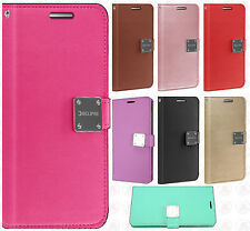 For Samsung Galaxy J7 Sky Pro Premium Flip Out Pocket Wallet Case Pouch Cover