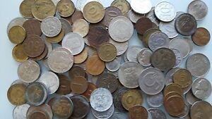 Germany, Sweden, Netherland, USA... coins, a.1940-1980, 140 Pcs Lot