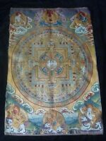 Exquisite Tibet silk embroidery class guanyin Buddha thangka