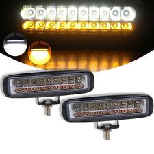 6inch ATV UTV Tractor Work Light Combo LED Flood Fog Lamp White+Amber 36W 12/24V