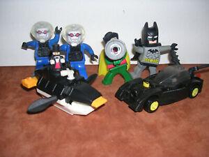 2008 McDonalds Happy Meal Batman Lego Toy 6 Piece Lot Loose