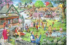La House of Puzzles-Puzzle 1000 PEZZI-VERDE PRIMAVERA Village party