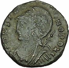 Constantine I The Great founds Constantinople Ancient Roman Coin Soldier i40391