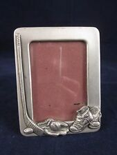 """SEAGULL PEWTER Picture Frame Sports Hockey Stick 1989 Canada 4"""" x 3.25"""" # PF1154"""