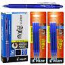 Pilot FriXion Clicker Erasable Blue Gel Ink Pens, 12 Pens With 2 Pk of Refills