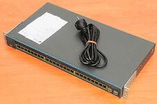 Cisco WS-C2950C-24 Switch 24 Ports 10/100 + 2 100BASE w/ Racks 6MthWtyTaxInv
