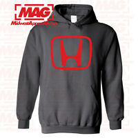 HONDA LOGO IN RED HOODIE CHARCOAL Racing Hooded Sweatshirt CBR Motocross