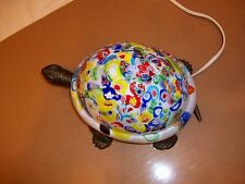 Colorful Brass Electric Turtle Night Light