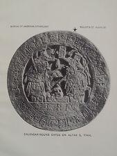Tikal Guatemala Maya Glyphs Calendar Round Dates On Altar 5 Mesoamerican 1915