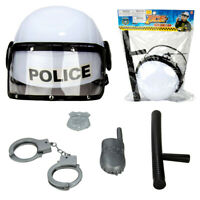 5 Pcs Police Pretend Toy Set Combat Helmet Accessories For Kids Christmas Gift