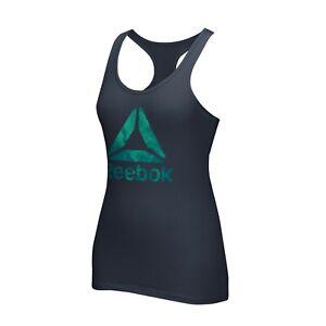 Reebok CrossFit Women's Navy Blue Delta Logo Racerback Tank Top BV2504