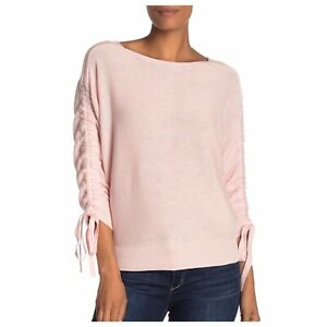 NEW Joie Pink Danee Bow Sleeve Sweater Large
