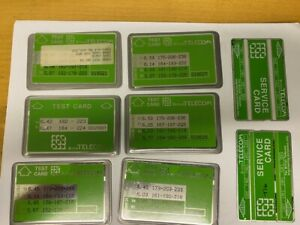 British Telecom Engineer  test Cards  x 6