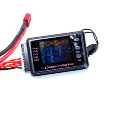 BVM 8s LCD 1-8 Cell Battery Voltage Meter with Alarm for Lit/Lipo/LiFe/Lilo/Nicd