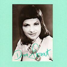 Ansichtskarte Autogramm Dina Straat signiert DDR Echt Foto