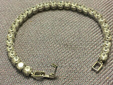 "7 "" Tennis Women's Bracelet Diamond Round 14k White Gold Clear Stones 5 Carat"