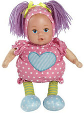 Adora Doll Snuggletime Baby Pink Dots 13 inch Cloth Doll w/Vinyl Face Age 0+ NEW