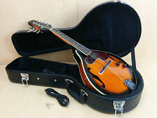 Smoky Mountain A-style electric mandolin w/lockable hard case, Picks. SM66EVSB