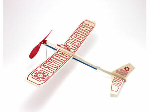 """Guillow's """"Flying Machine""""  Rubber Band Powered Balsa Wood Toy Airplane  GUI-75"""