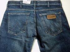 Wrangler LARSTON Slim Tapered Jeans INDIGO WIT blue faded denim CURRENT SEASON!