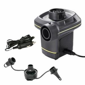 Intex Electric Pumpe 66634 Elektrische Luftpumpe 12V + 230V Quick-Fill + Adapter