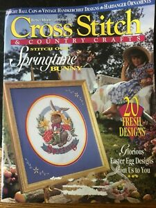 Vintage Cross Stitch & and Country Craft Magazine - March/April 1994