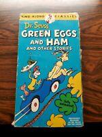 GREEN EGGS & HAM Sneetches Dr. Seuss Sing-Along Classics VHS Tape 1973 CBS Video