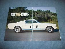"1965 Shelby G.T. 350 R-Model Mustang Article ""Day One Clone"" GT350 Ford"