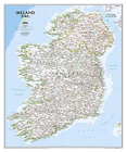 National Geographic: Ireland Classic Wall Map - Laminated (30 X 36 ... BOOK NEW